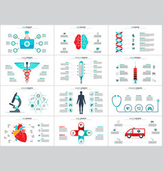 medicine infographic set vector image