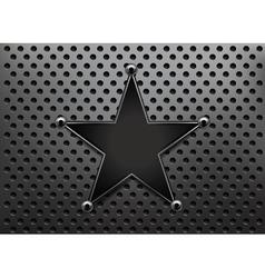 metallic star background vector image vector image