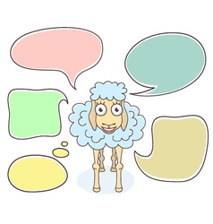 Sheep with Speech Bubbles vector image