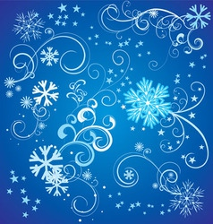 snowflakes with flourishes vector image vector image