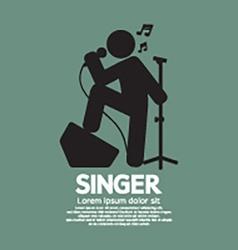 Standing Singer Black Graphic Symbol vector image vector image