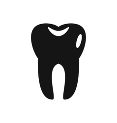 Tooth icon in simple style vector image vector image