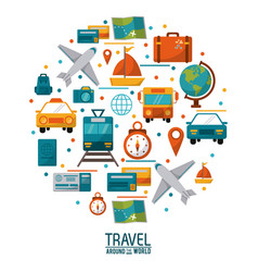 Travel around the world concept poster design vector