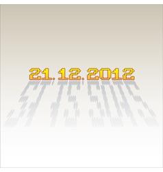 2012 date of apocalypse vector