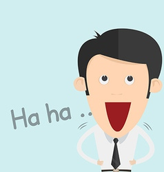 A Boy Laughing Out Loud vector
