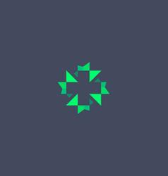 Abstract plus cross logo icon design modern vector