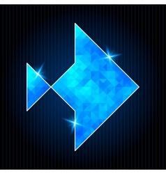 Abstract Polygonal Fish vector
