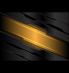 abstract yellow light banner on dark gray metal vector image