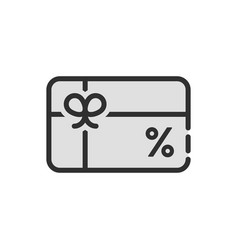 Black discount icon like gift card vector