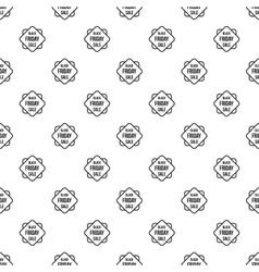 Black Friday sale pattern simple style vector
