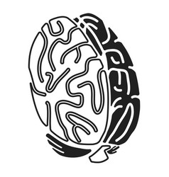 brain concept icon simple style vector image
