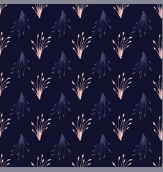 branches and leaves seamless pattern repeat vector image