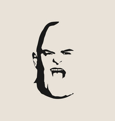 brutal bald man with a beard vector image