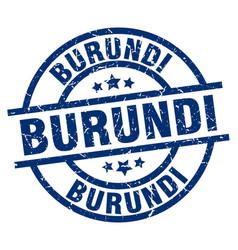 burundi blue round grunge stamp vector image