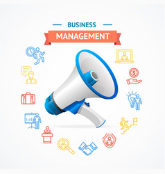 Business management concept vector