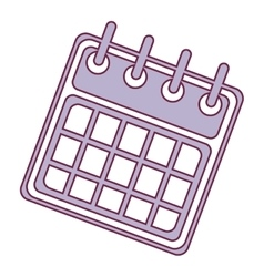 calendar template icon vector image
