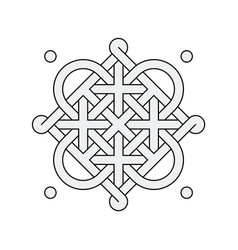 celtic knot - single chain - loops vector image