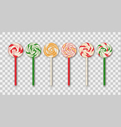 christmas candy lollipop vector image