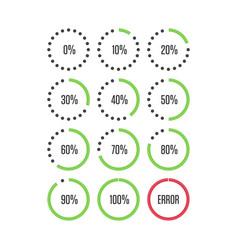 colorful pie charts vec vector image