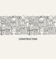 construction banner concept vector image