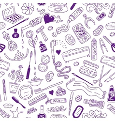 Cosmetic - seamless background vector image