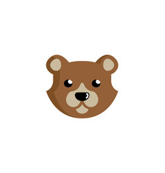 creative bear head logo vector image