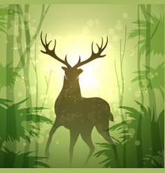 Deer in a forest vector