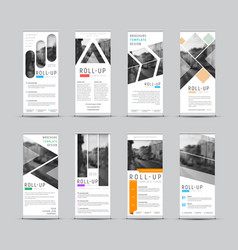 design roll-up banners with different vector image