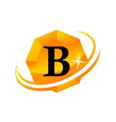 Diamond swoosh initial b vector