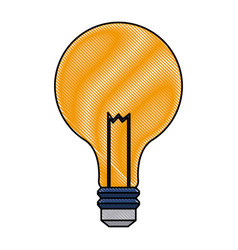 Drawing bulb light electric innovation science vector