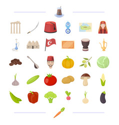 Entertainment history flora and other web icon vector
