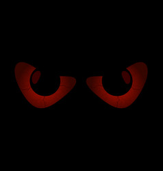 evil scary eyes black pupils halloween element vector image