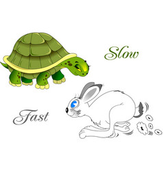 fast and slow vector image