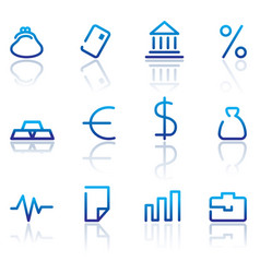 Financial symbols vector