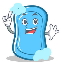 Finger blue soap character cartoon vector