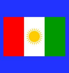 Flag northern province sri lanka vector