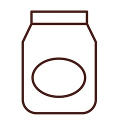 Flour bag isolated icon vector