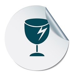 fragile glass symbol logistics icon vector image