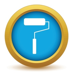 Gold roller icon vector image