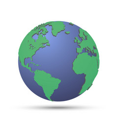 green planet with continent vector image