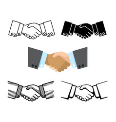 Handshake business partnership agreement vector