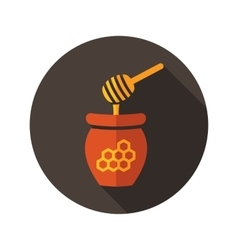 Honey flat icon with long shadow vector