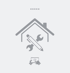 House renovation - web icon vector
