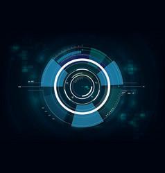 hud interface gui futuristic technology vector image