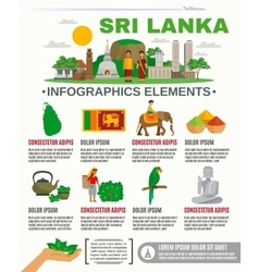 Infographic Sri Lanka vector