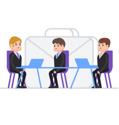 Interview for work person gets a job as a manager vector