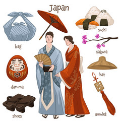 japanese people customs and traditions vector image