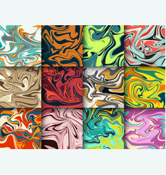 Liquid paint abstract marble background pattern vector