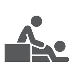 Massage glyph icon spa and leisure therapist vector