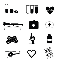 medical icon in black vector image